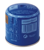 Disposable Camping Gaz Cartridge C206. For use with Camping Gaz piercable appliances.