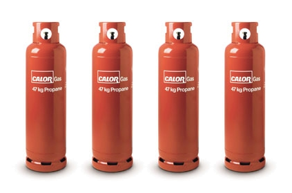 4x Calor 47kg Propane Home Gas Cylinders for LPG Four Pack Home Heating System